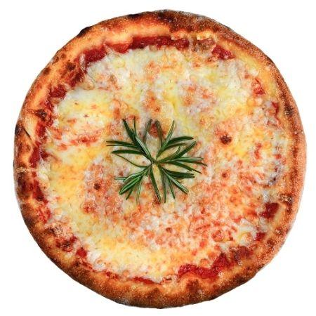 PIZZA MARGHERITA, sos de rosii, mozzarella, busuioc, ulei de masline