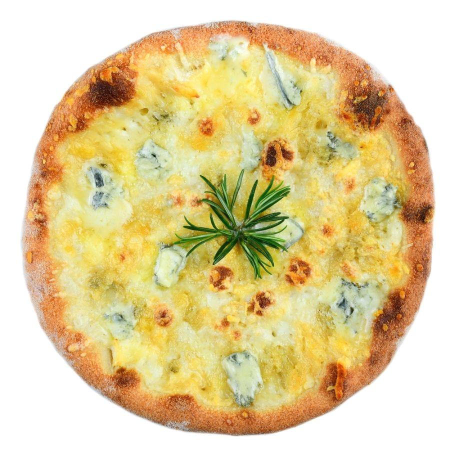 PIZZA QUATTRO FORMAGGI, mozzarella, gorgonzola, brie, parmezan