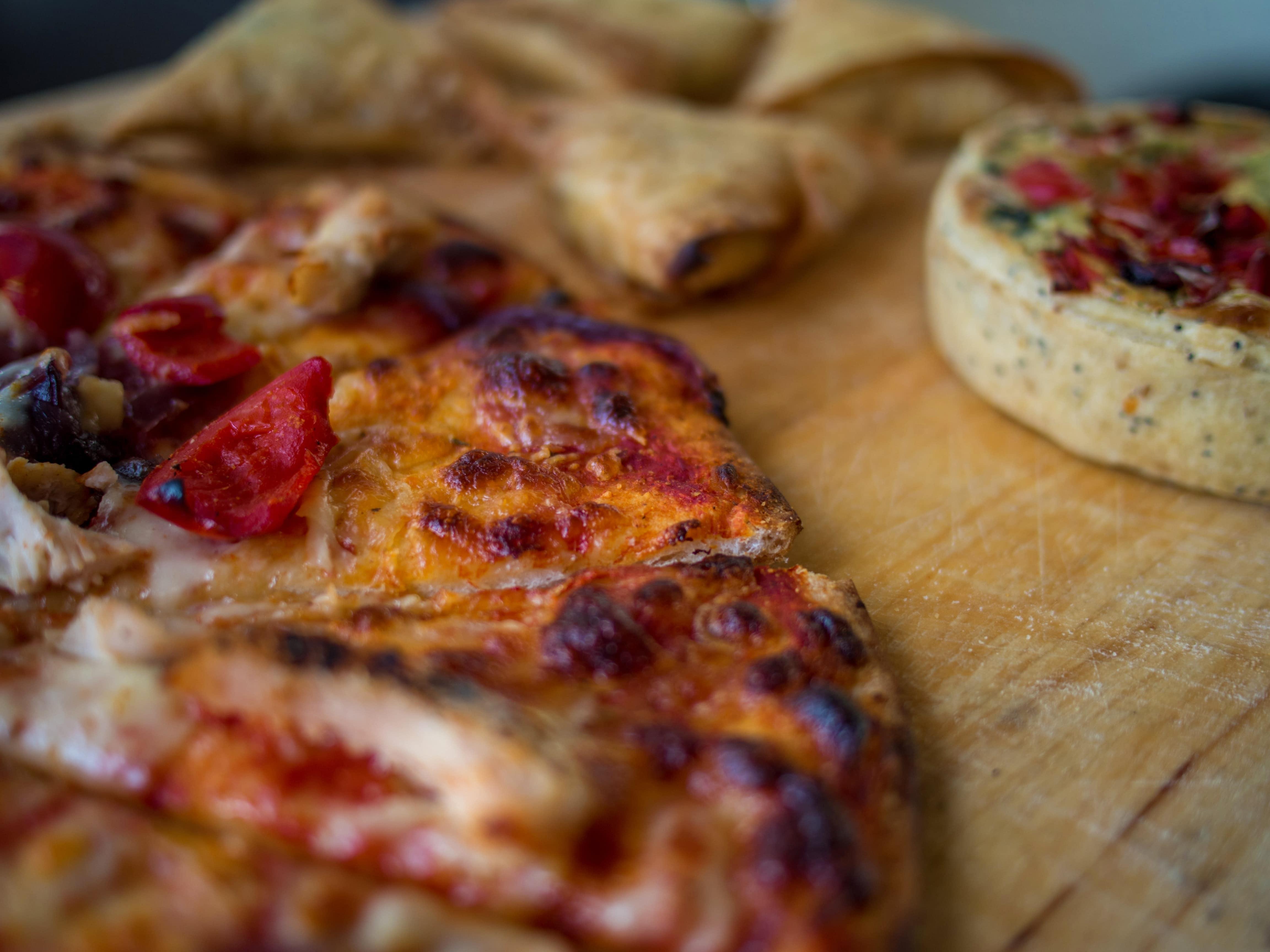 pizza, quattro carni